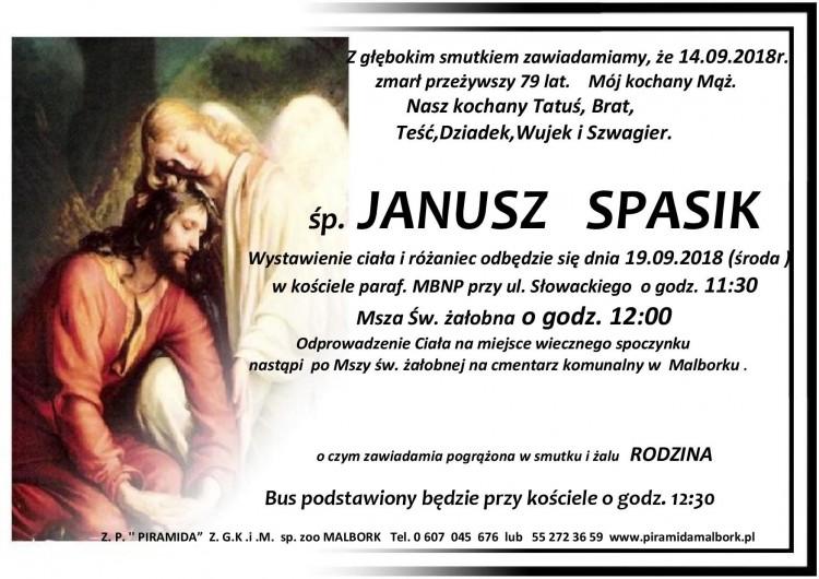 Zmarł Janusz Spasik. Żył 79 lat.