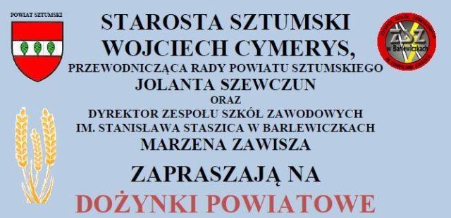 Zapraszamy na Dożynki Powiatowe w Barlewiczkach
