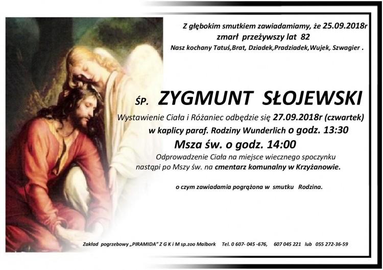 Zmarł Zygmunt Słojewski. Żył 85 lat.