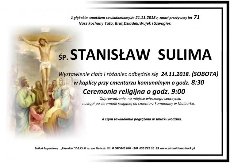 Zmarł Stanisław Sulima. Żył 71 lat.