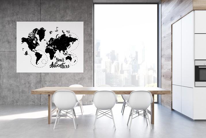 Nietypowy plakat – mapa jako dekoracja wnętrza