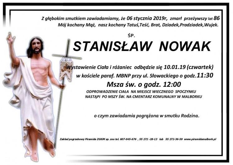 Zmarł Stanisław Nowak. Żył 86 lat.