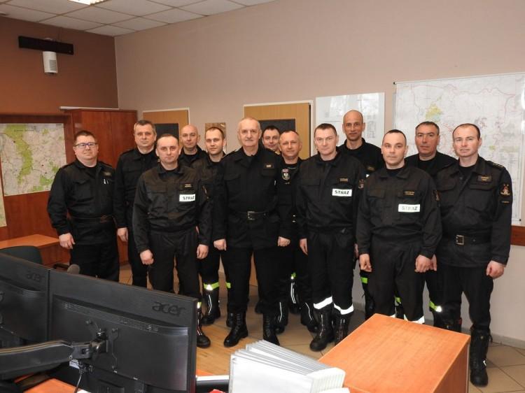 Komendant główny PSP z wizytacją u malborskich i sztumskich strażaków.
