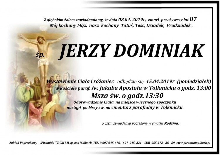 Zmarł Jerzy Dominiak. Żył 87 lat.