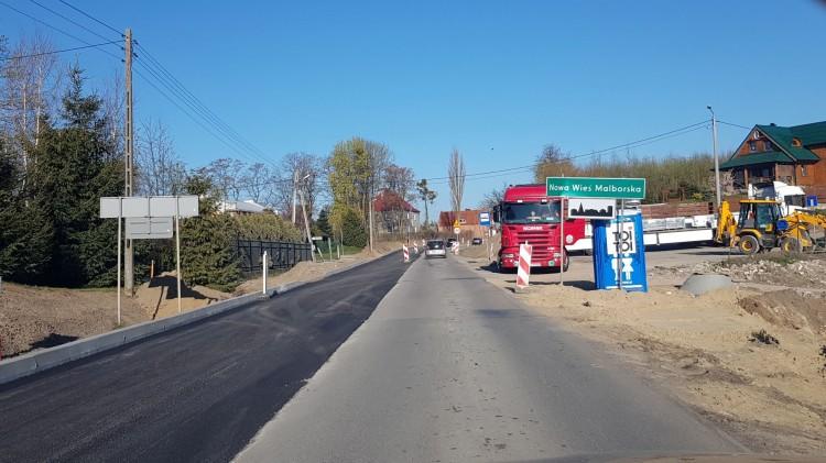 Grzymała - Malbork. Rozbudowa drogi wojewódzkiej nr 515. Zobacz postęp prac - 19.04.2019