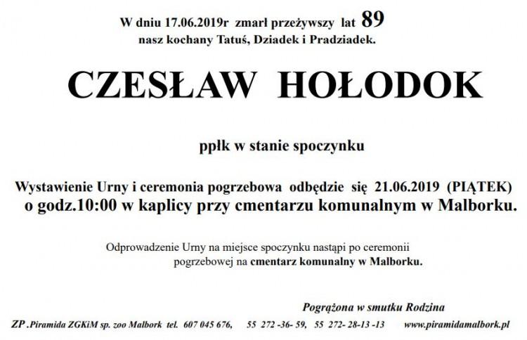 Zmarł Czesław Hołodok. Żył 89 lat.