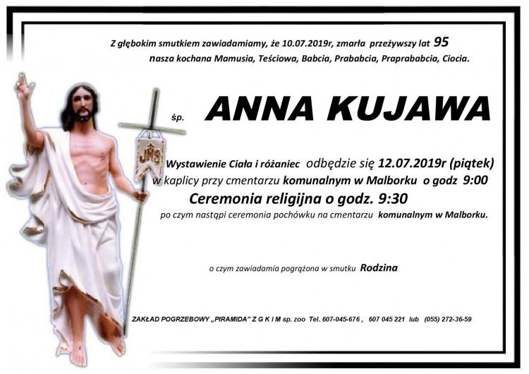 Zmarła Anna Kujawa. Żyła 95 lat.