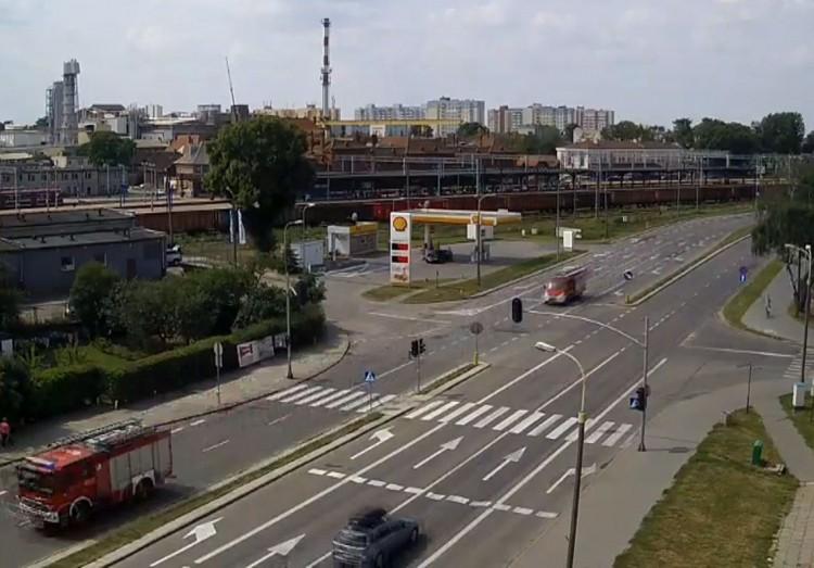 Kolizja trzech aut na Wojska Polskiego w Malborku.