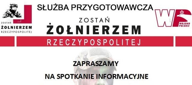 Zostań żołnierzem Rzeczypospolitej. Spotkanie informacyjne w Malborku