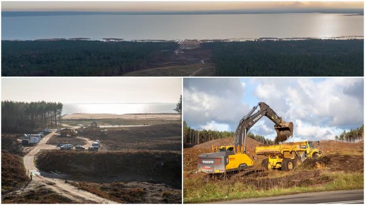 Przekop Mierzei Wiślanej. Ciężki sprzęt pracuje na terenie budowy. Zobacz najnowsze zdjęcia i wideo.