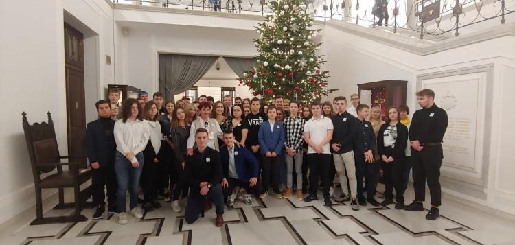 Młodzież z II LO z wizytą w Sejmie RP.