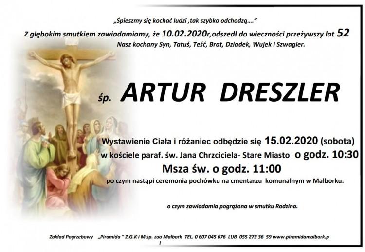 Zmarł Artur Dreszler. Żył 52 lata.