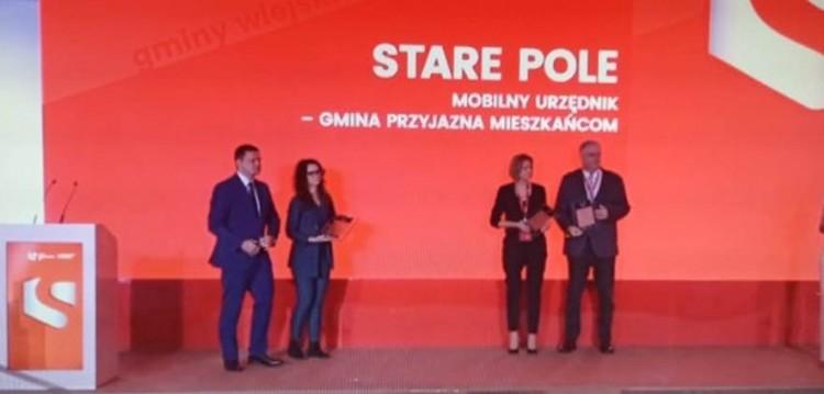 """Gmina Stare Pole wyróżniona w konkursie """"Innowacyjny Samorząd 2020""""."""