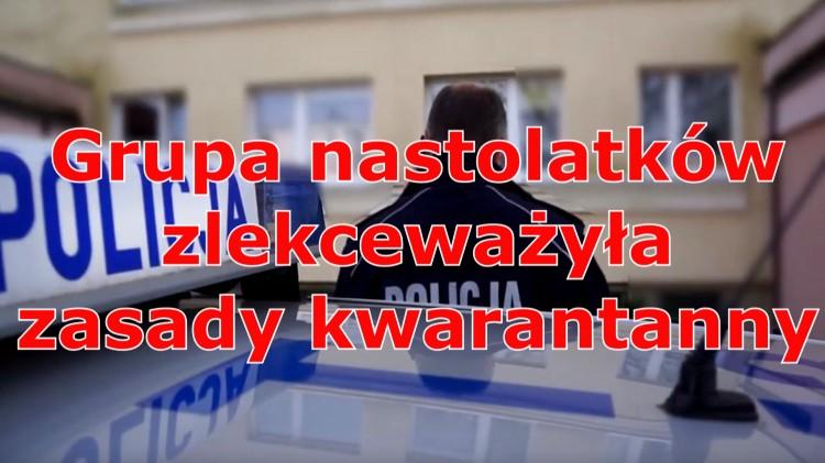 Grupa nastolatków zlekceważyła obowiązującą kwarantannę. Część z nich czeka teraz grzywna nawet 5 tys zł.