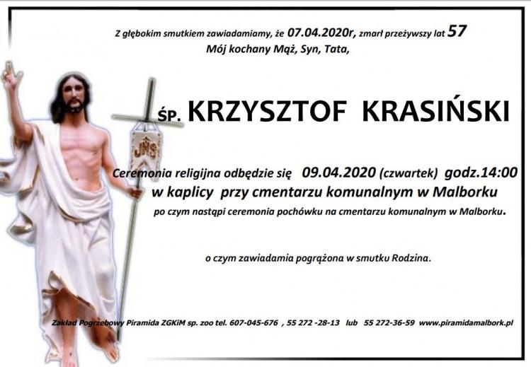 Zmarł Krzysztof Krasiński. Żył 57 lat.