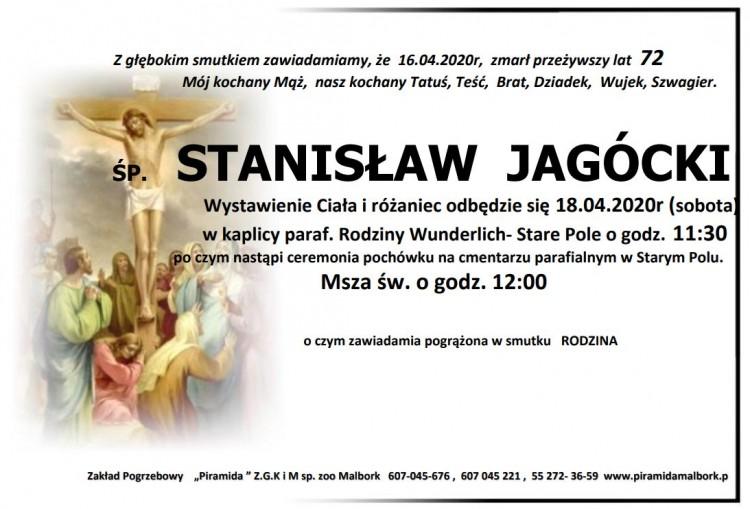 Zmarł Stanisław Jagócki. Żył 72 lata.