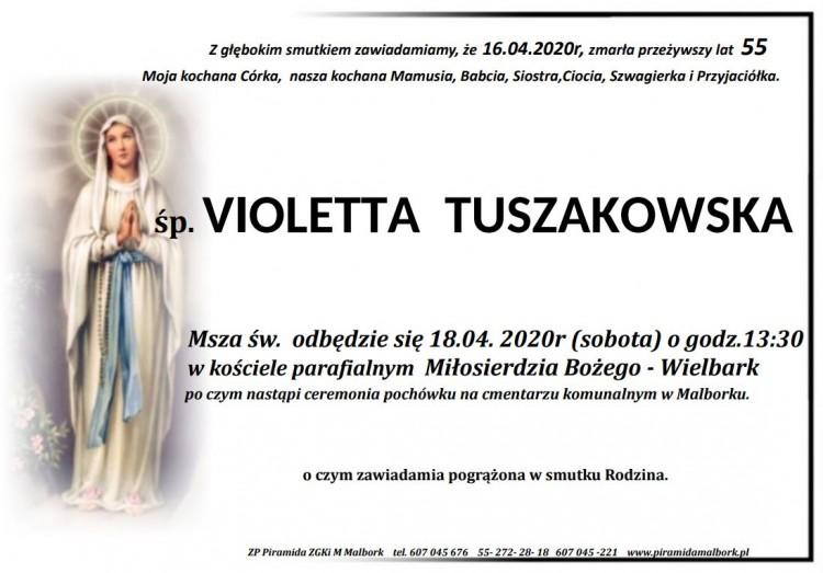 Zmarła Violetta Tuszakowska. Żyła 55 lat.