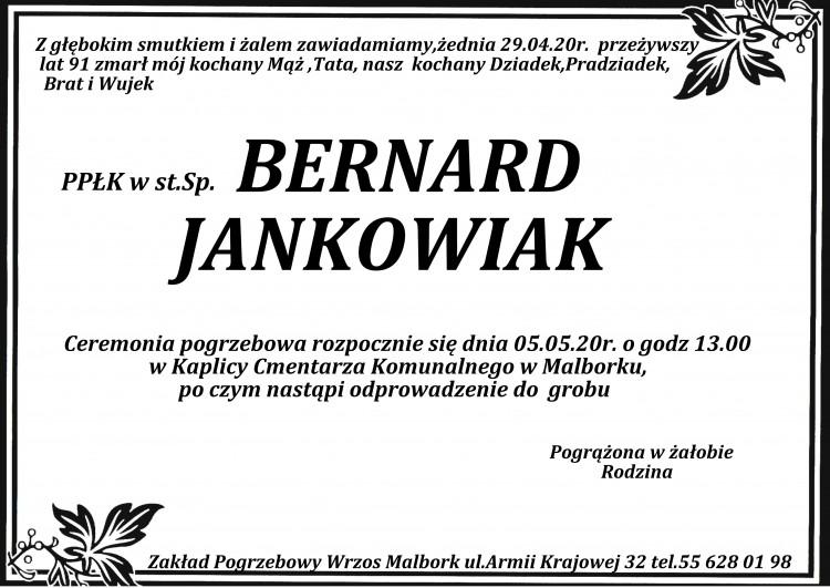 Zmarł Bernard Jankowiak. Żył 91 lat.