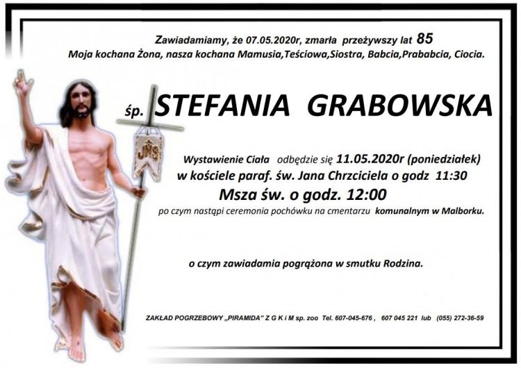 Zmarła Stefania Grabowska. Żyła 85 lat.