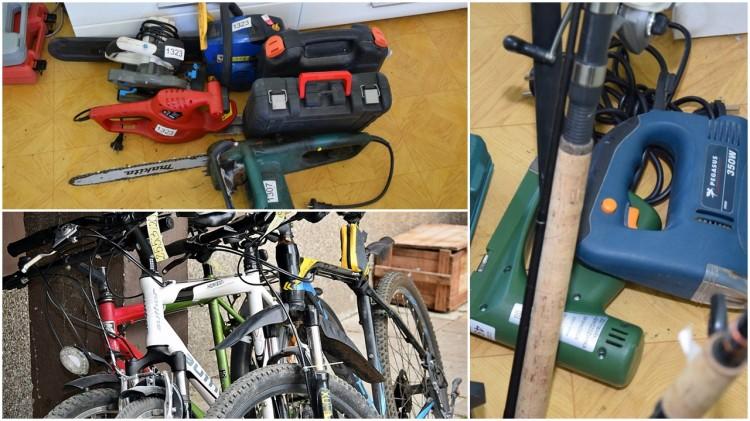 Policjanci odzyskali skradziony sprzęt i rowery. Można je odebrać w komendzie.