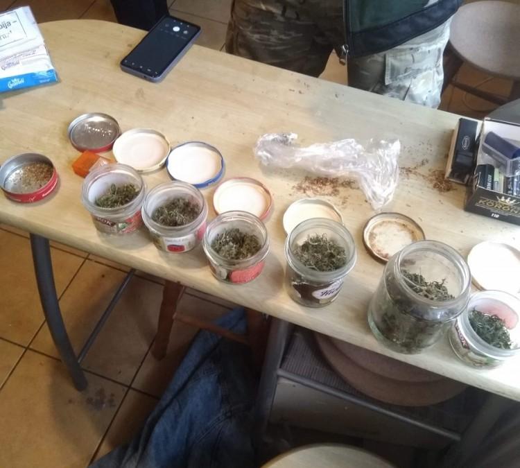 W mieszkaniu miał słoiki z suszem i domową hodowlę marihuany.