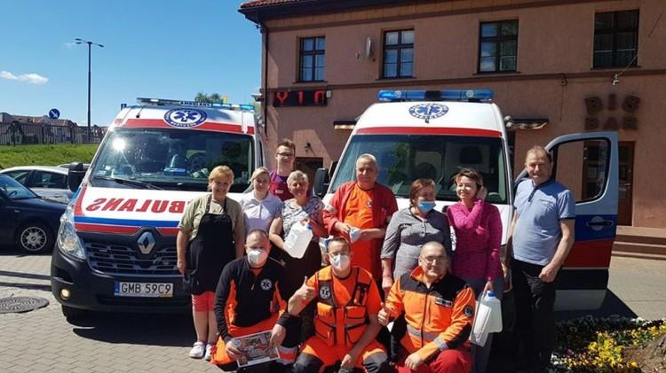 """Ekipa Baru """"BIS"""" otrzymała podziękowania od malborskich ratowników medycznych."""