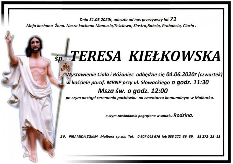 Zmarła Teresa Kiełkowska. Żyła 71 lat.