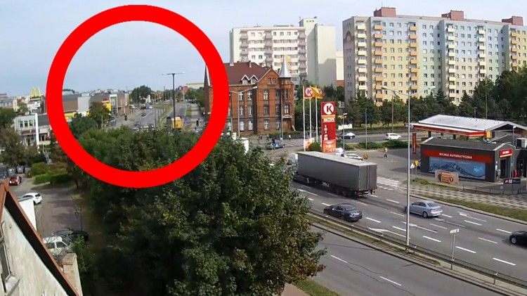 Kolizja z udziałem ciężarówki na Rodła w Malborku.