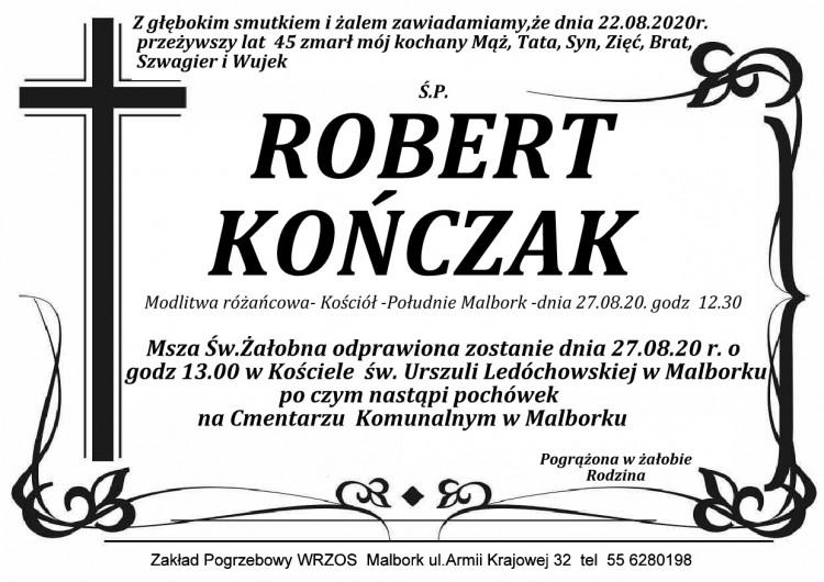 Zmarł Robert Kończak. Żył 45 lat.