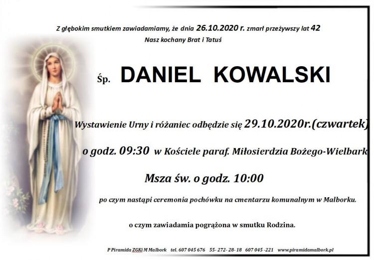 Zmarł Daniel Kowalski. Żył 42 lata.