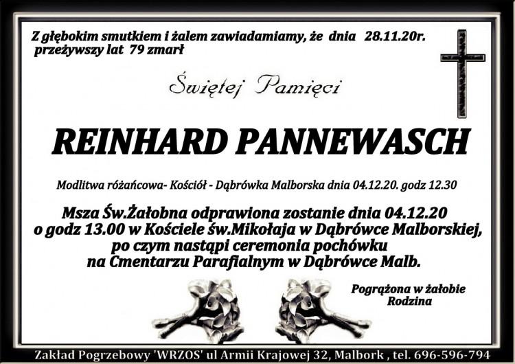 Zmarł Reinhard Pannewasch. Żył 79 lat.