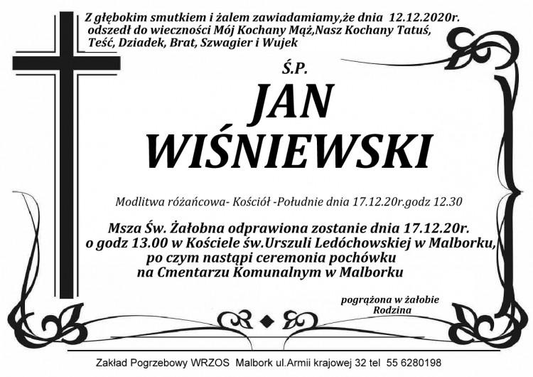Zmarł Jan Wiśniewski.