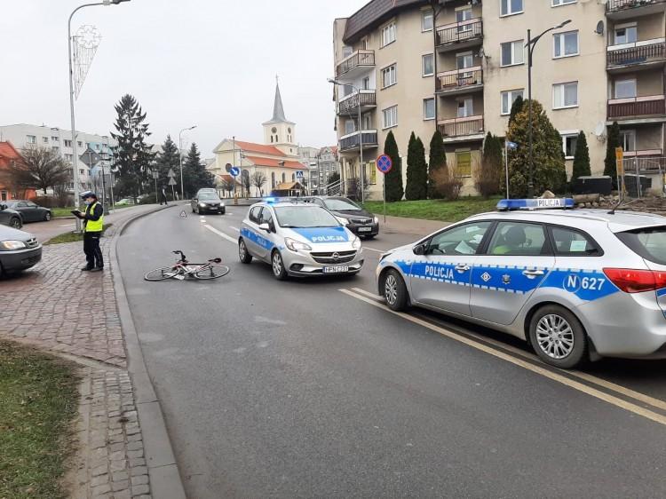 DK55. Potrącony w Sztumie rowerzysta trafił do szpitala.
