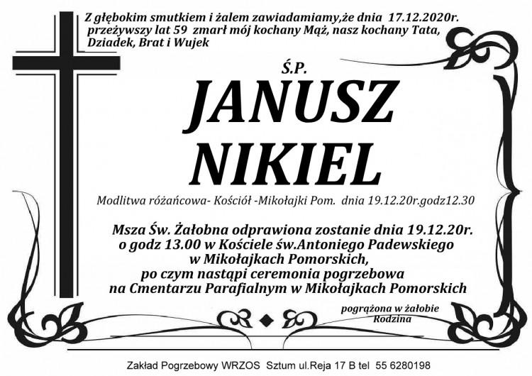 Zmarł Janusz Nikiel. Żył 59 lat.