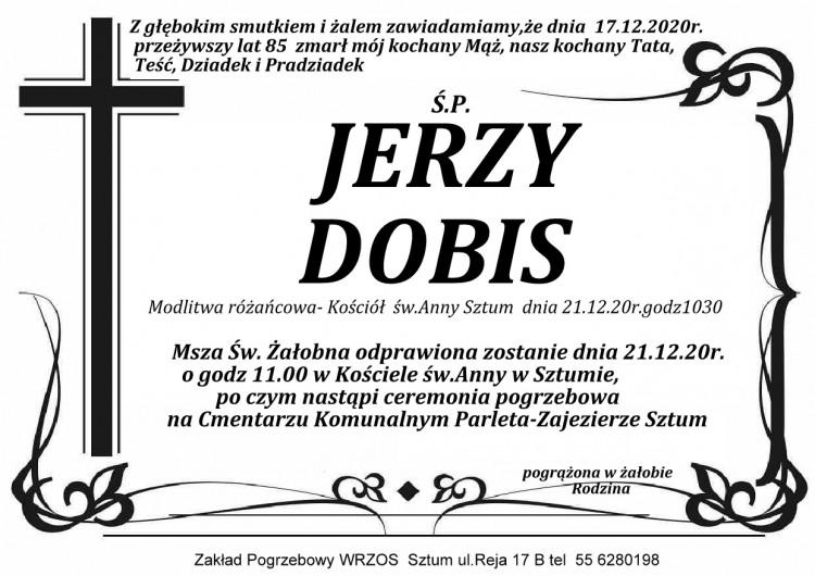 Zmarł Jerzy Dobis. Żył 85 lat.