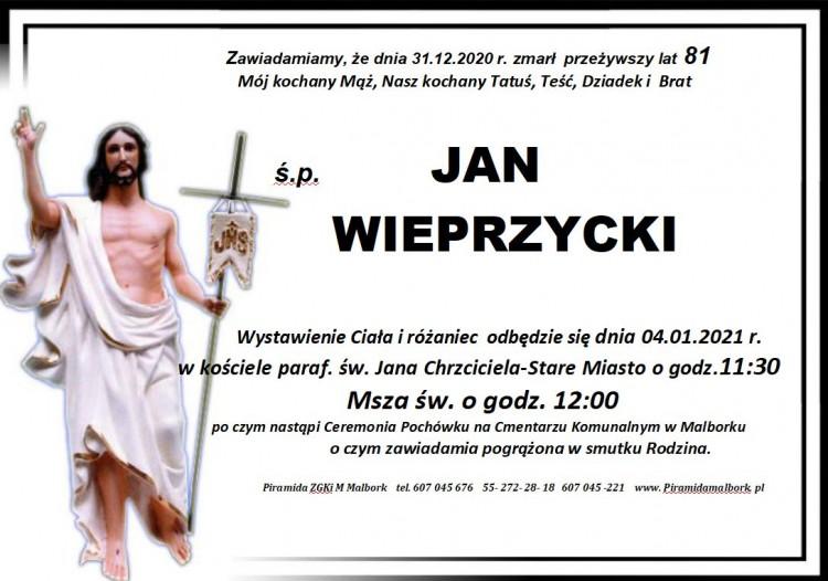 Zmarł Jan Wieprzycki. Żył 81 lat.