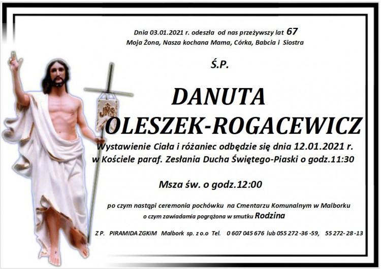 Zmarła Danuta Oleszek-Rogacewicz. Żyła 67 lat.