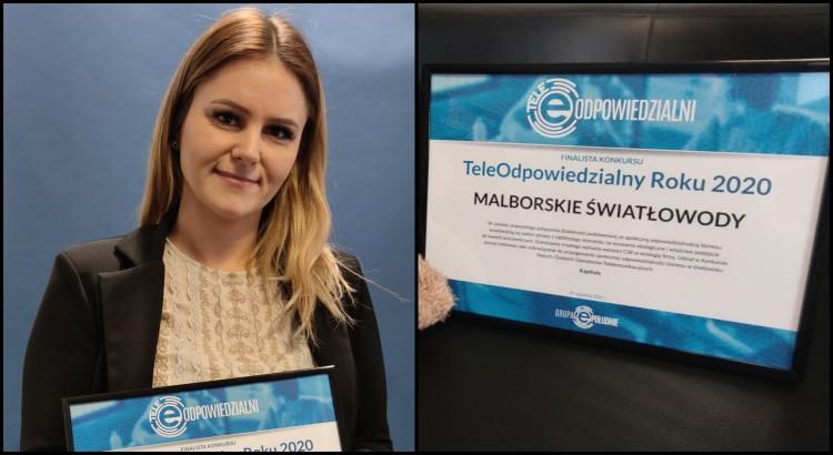 Malborskie Światłowody w finale TeleOdpowiedzialny Roku 2020