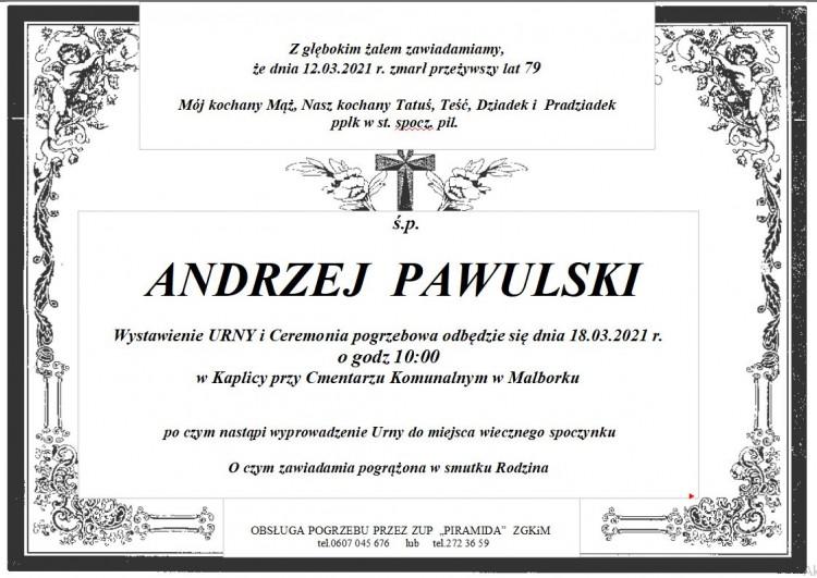 Zmarł Andrzej Pawulski. Żył 79 lat.