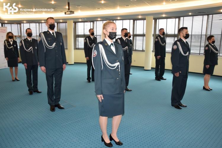 Uroczyste ślubowanie oraz pożegnanie emerytowanych funkcjonariuszy Służby Celno-Skarbowej