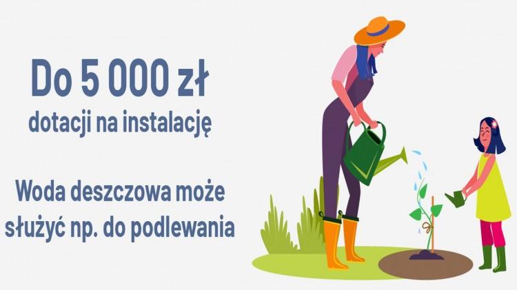 """Kolejne pieniądze na oszczędzanie wody w województwie pomorskim. Ponownie ruszył program """"Moja Woda""""."""