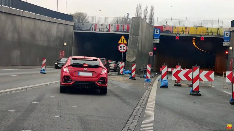 Gigantyczne korki w tunelu pod Martwą Wisłą i jego bezpośrednim sąsiedztwie w Gdańsku