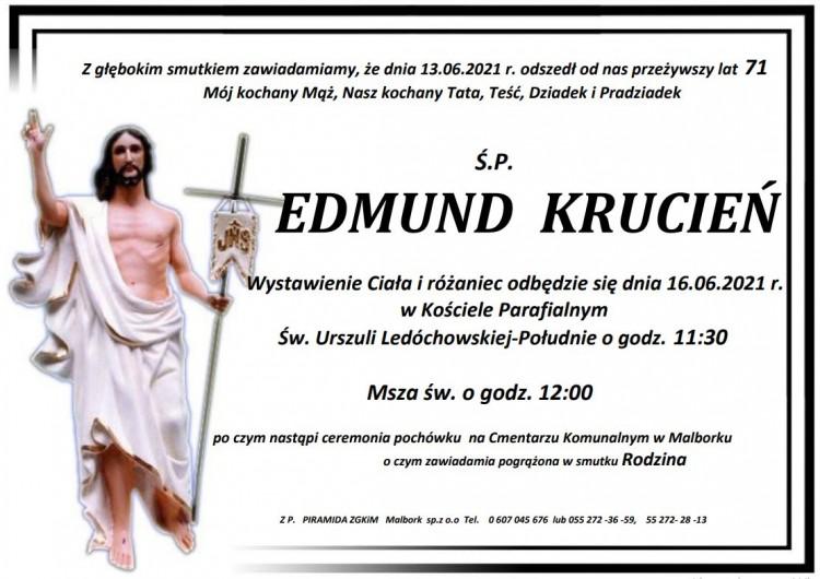 Zmarł Edmund Krucień. Żył 71 lat.