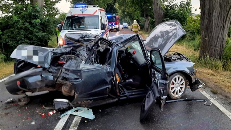 Uderzył w przydrożne drzewo. Ranne dziecko przetransportowano LPR-em do szpitala - raport sztumskich służb mundurowych.