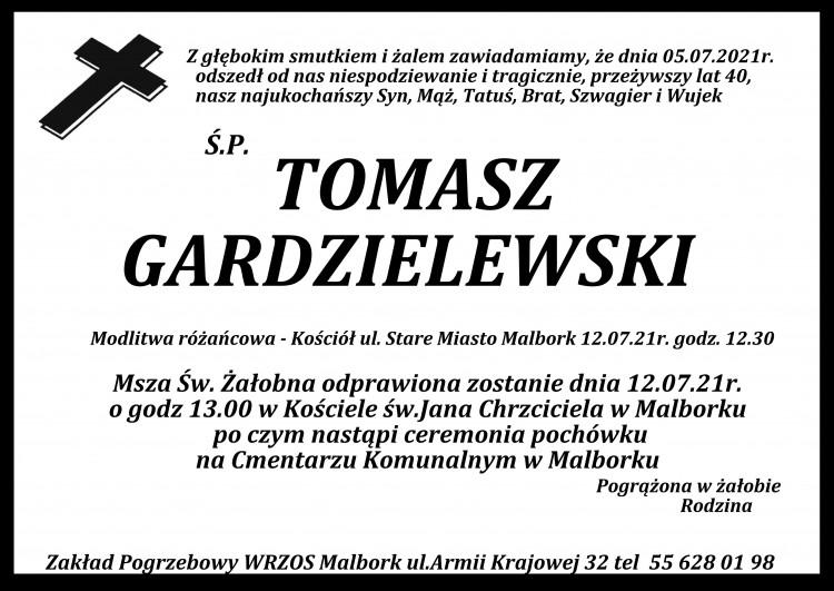 Zmarł Tomasz Gardzielewski. Żył 40 lat.