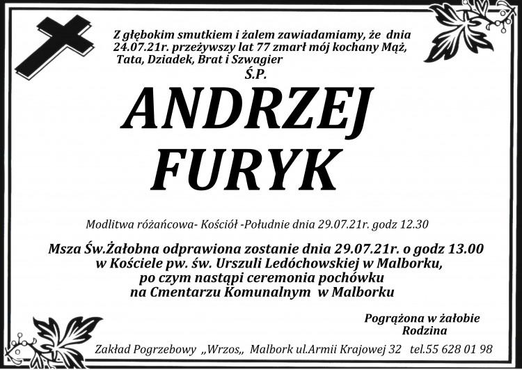 Zmarł Andrzej Furyk. Żył 77 lat.