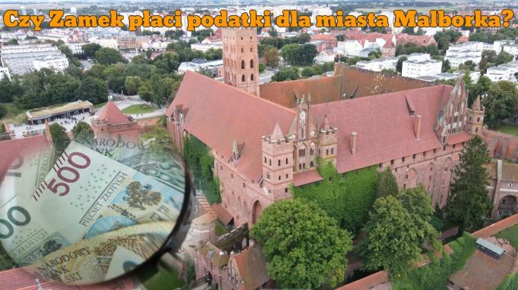 Czy zamek płaci podatki dla miasta Malborka?