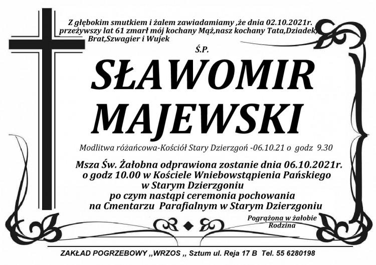 Zmarł Sławomir Majewski. Żył 61 lat.
