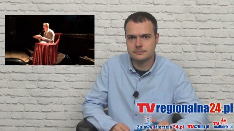 MIROSŁAW BAKA CZYTAŁ LALKĘ B.PRUSA. INFO TYGODNIK. MALBORK - SZTUM - NOWY DWÓR GDAŃSKI - 11.09.2015