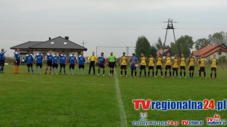 Mecz ligowy VII grupy malborskiej piłkarskiej